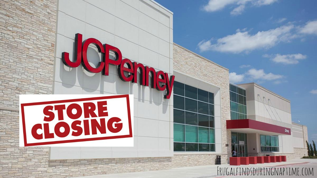 Jcpenney stores closing frugal finds during naptime for Jc penneys