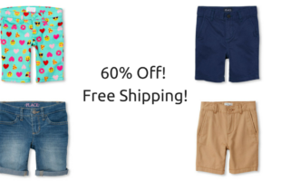 60% Off at The Children's Place = Kids Jeans $7.80 & Kids Shorts $7.18 + FREE Shipping!!