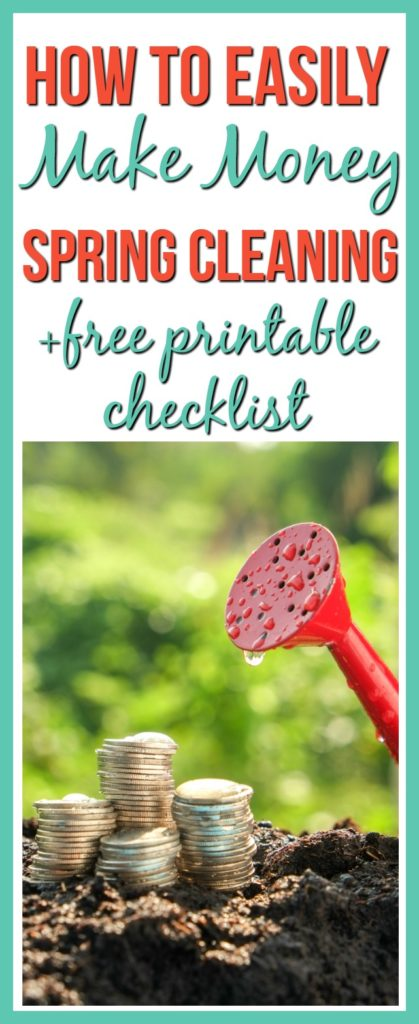 Spring cleaning can be overwhelming, but did you know you can make money spring cleaning? See how you can easily make money spring cleaning plus I have included a free printable checklist for you!
