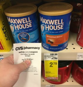 Maxwell House Coffee ONLY $0.54 (reg. $4.99)!