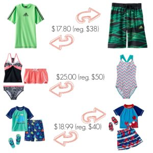 HOT Deals on Kids' Swimsuits at Kohl's!