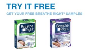 FREE Sample of Breathe Right Strips!