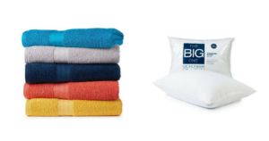 WOW! The Big One Bath Towels and Pillows $2.54!