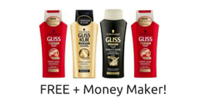 FOUR FREE Bottles of Schwarzkopf Gliss Shampoo & Conditioner + Money Maker!