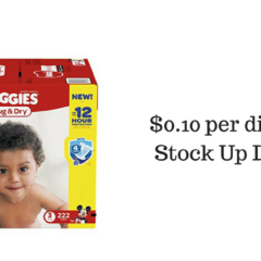 Huggies Snug & Dry Size 3 Diapers $0.10 per Diaper! Stock Up!