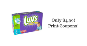 Luvs Diapers ONLY $4.99 at Target!