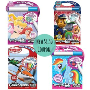 NEW $1.50 Imagine Ink Mess Free Book Coupon = GREAT Deals on Mess Free Books!