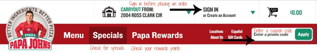 Save money at Papa John's