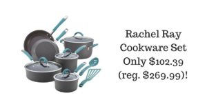 Rachel Ray 12-Piece Nonstick Cookware Set $102.39 (reg. $269.99)!