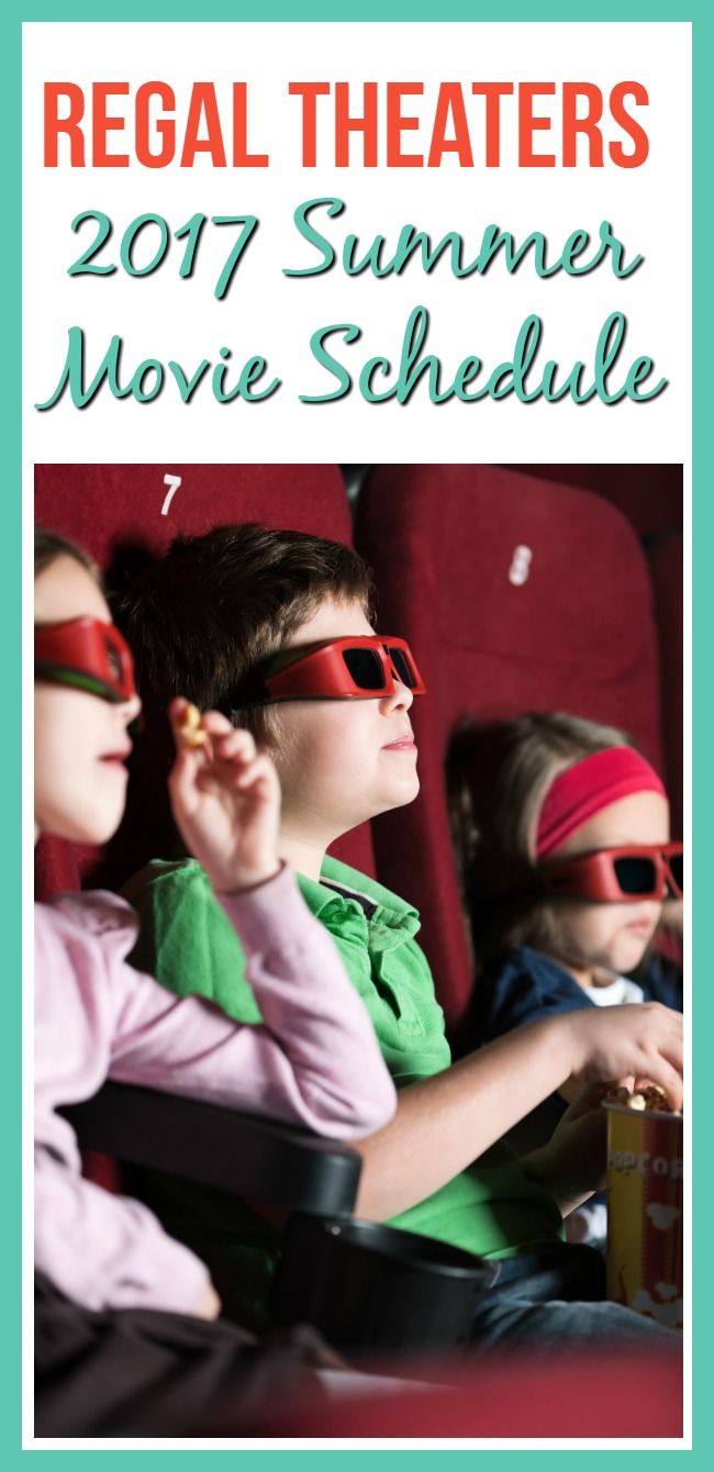 Looking for something frugal to do with your kids this summer? See a $1 movie at Regal Theaters! Here is the Regal Theaters 2017 Summer Movie Schedule.
