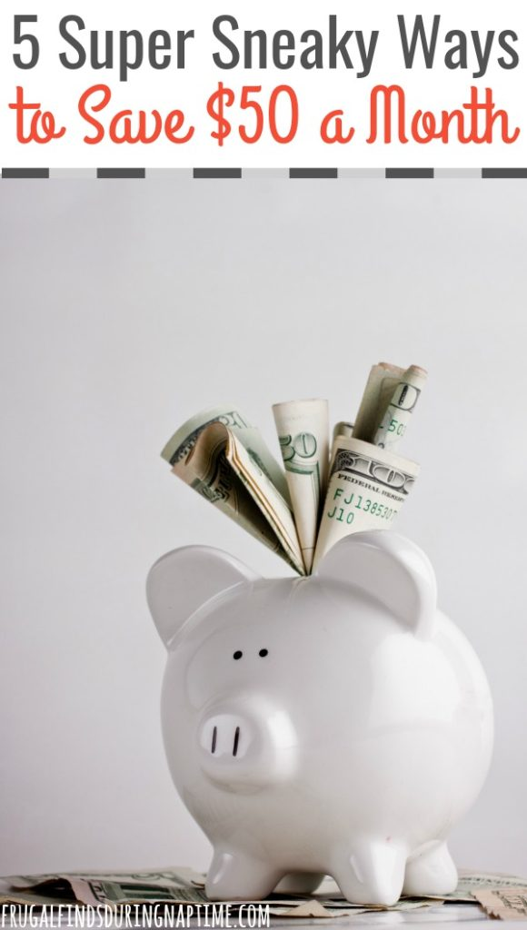 Saving money isn't always easy when you have a family and bills. Here are some sneaky ways you can save $50 a month. Start doing these simply, sneaky things now and you will save $600 in one year! @FFDNT