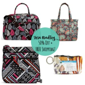 50% Off Select Vera Bradley Patterns + FREE Shipping!