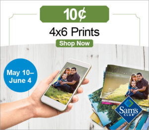 4×6 Photo Prints $0.10 Each at Sam's Club!