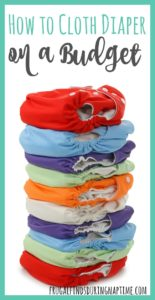 5 Tips to Cloth Diaper on a Budget