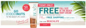 *Today Only* FREE Full Size Body Cream (with Full Size Body Care Purchase)
