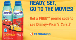 FREE $12.00 Fandango Ticket with Purchase of TWO Coppertone Products!