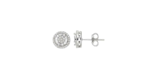 Sterling Silver Diamond Cluster Stud Earrings $26.99 (reg. $185)
