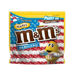 Party Size M&M's Red, White, & Blue Peanut Chocolate Candies $8.00