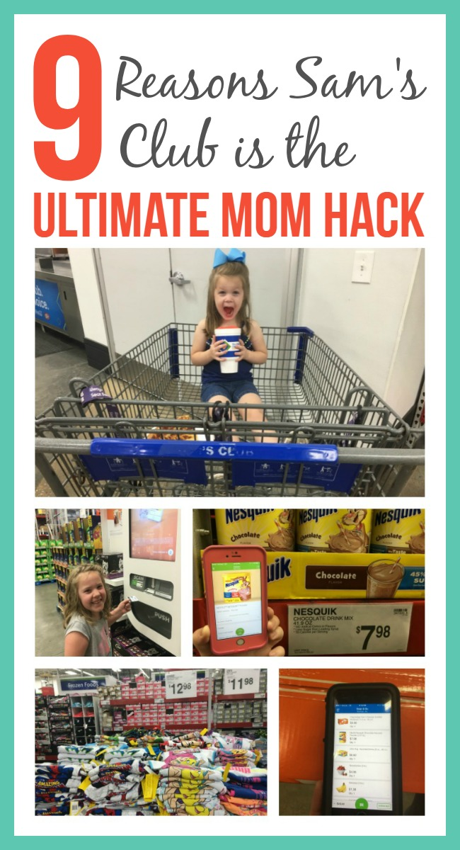 As a mom, time is a precious commodity. Who wants to spend it going from store to store to get everything on your list, or standing in line? See why Sam's Club is the ultimate mom hack.