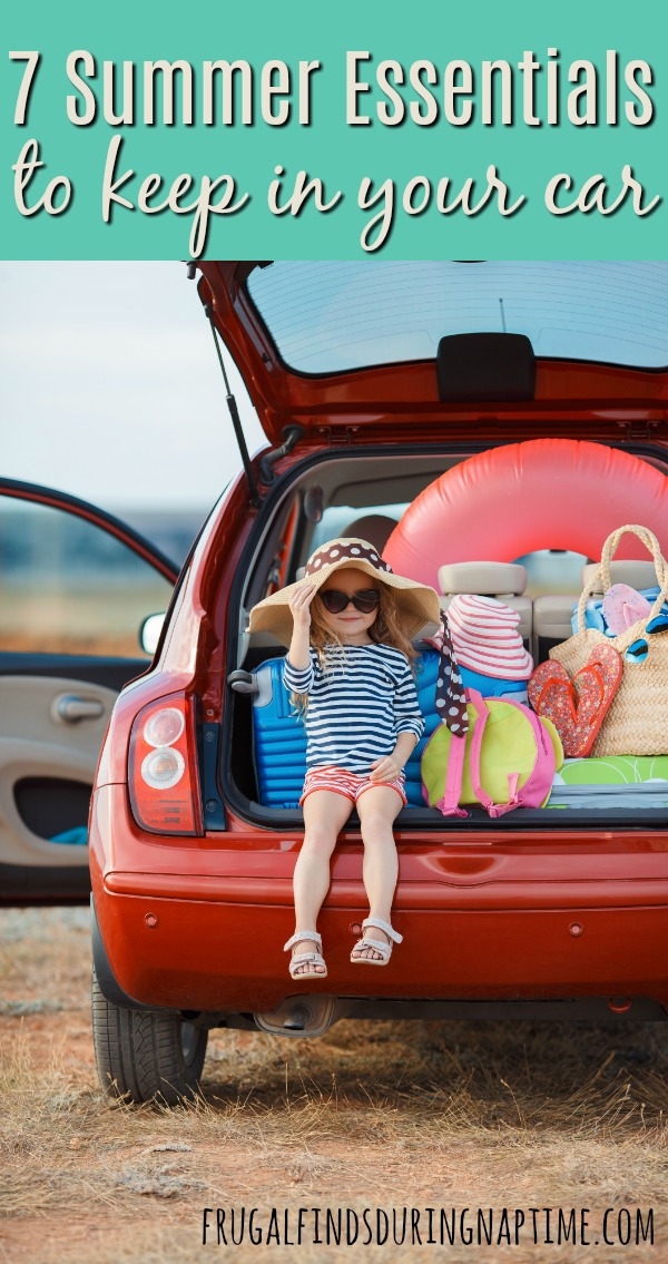 Most families spend a lot of time in the car during the summer months. Be prepared for anything with these 7 summer essentials to keep in your car.