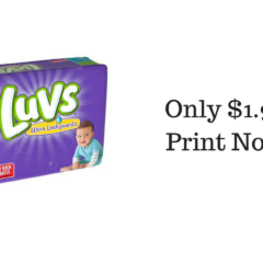 Luvs Jumbo Pack Diapers ONLY $1.97!