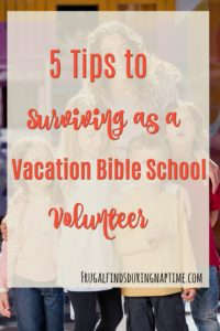Being a Vacation Bible School Volunteer can be overwhelming and leave you feeling like you want to pull your hair out! It doesn't have to be that way though. See how to survive as a Vacation Bible School Volunteer.