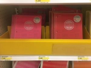 FREE One-Subject Notebooks (after Coupons)!