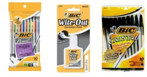 FREE BIC Pens, Pencils, and Wite-Out at Rite Aid!