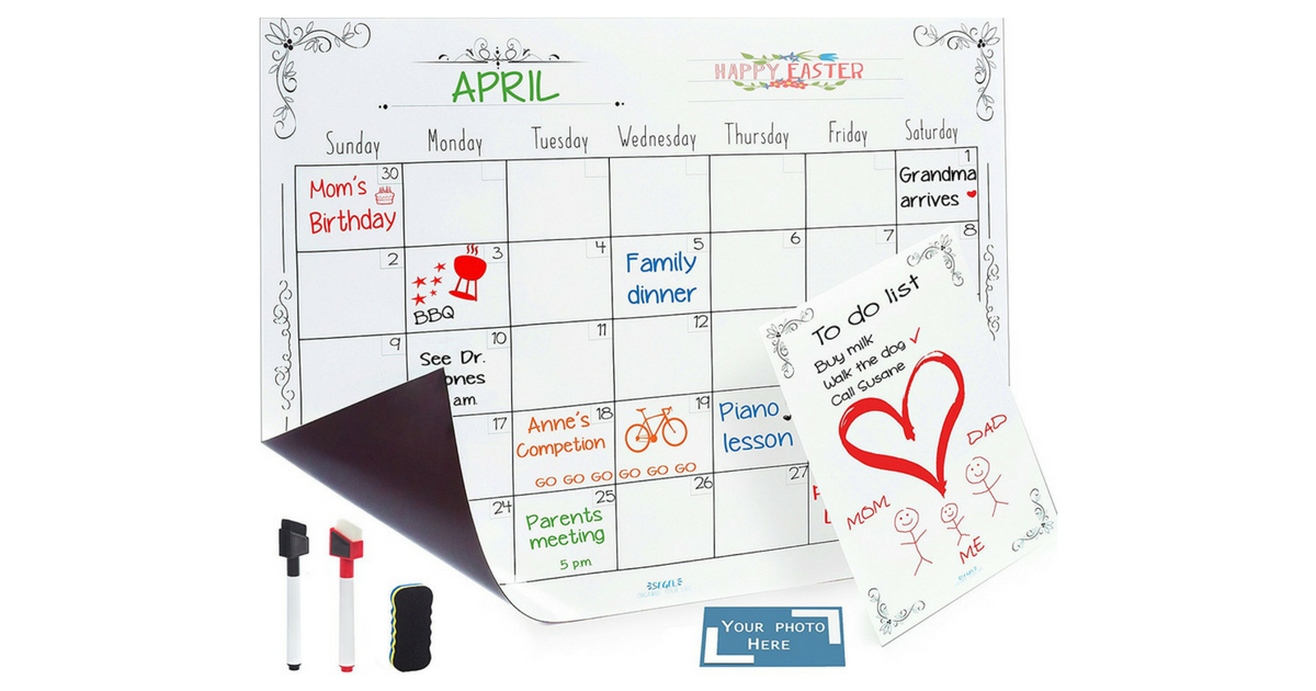 Magnetic Dry Erase Calendar Notepad And Picture Frame 1497 Reg