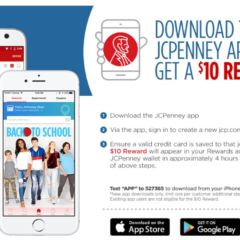 FREE $10 Reward when you Download the JCPenney App!