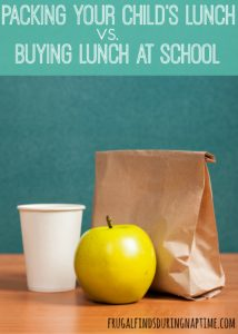 Should You Pack Your Child's Lunch Or Let Them Buy at School?