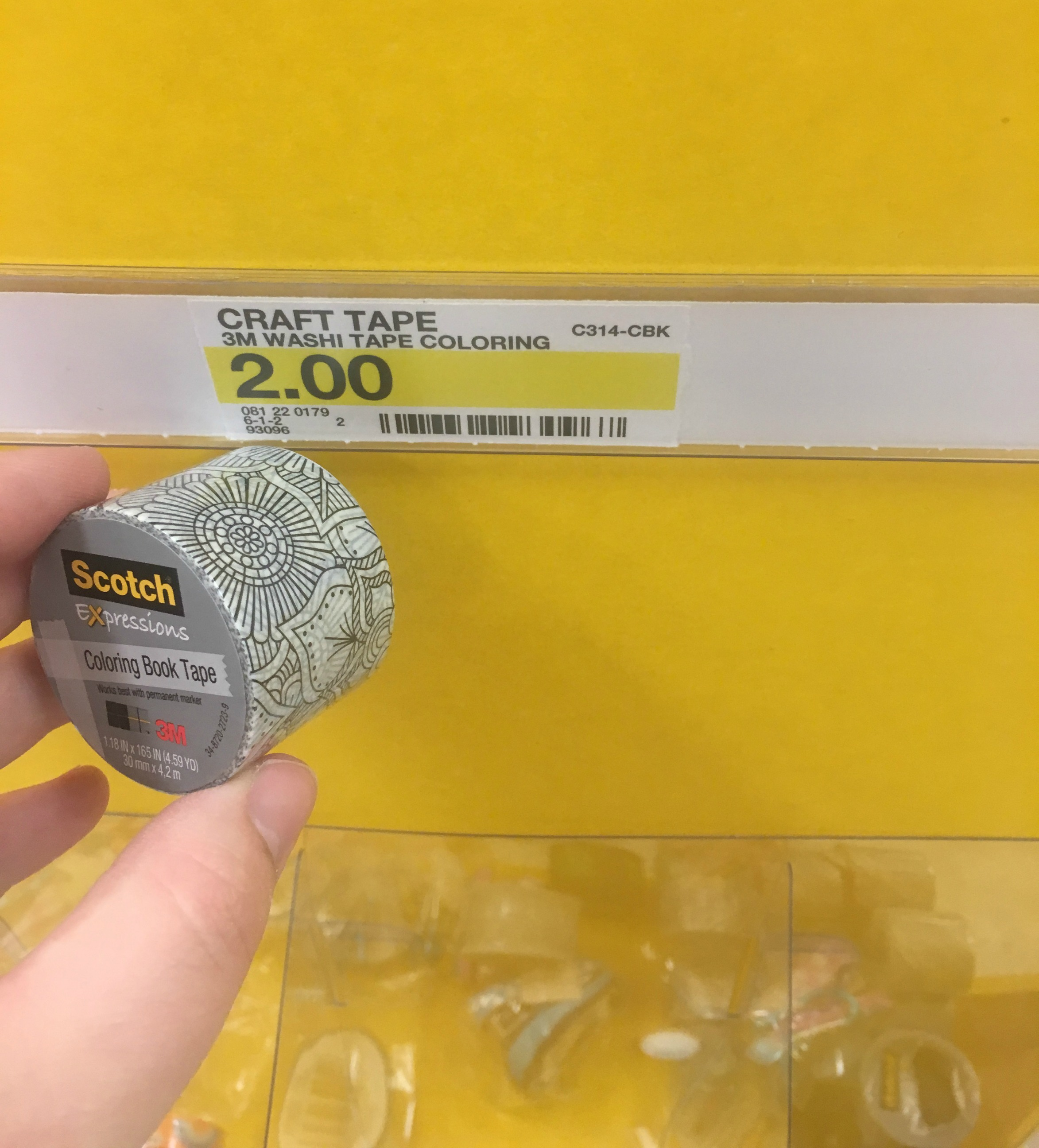Target FREE Scotch Expressions Coloring Book Washi Tape