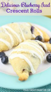 These blueberry iced crescent rolls are just as delicious as they are easy to make! They are sure to impress everyone at the next bridal shower, baby shower, or brunch you host!
