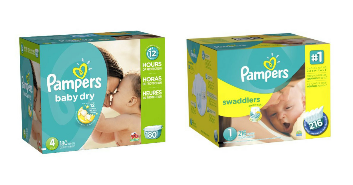 Pampers Diapers Super Packs 17 04 Per Box Free Pampers