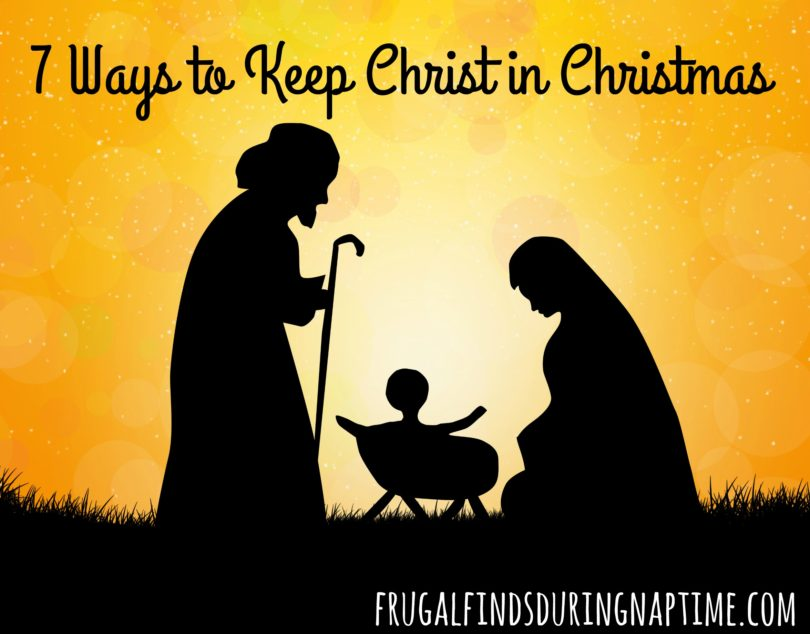 In a society focused on Santa Claus, here are seven easy things you can do with your family to keep Christ in Christmas this holiday season.