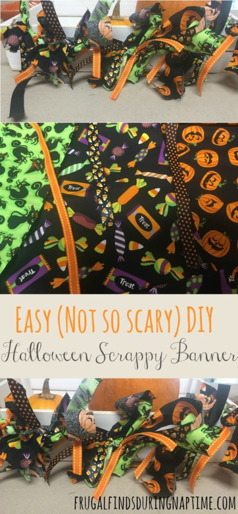 Want to add a little Halloween or pumpkin decor to your house? Check out how to make this easy, not-so-scary, Halloween Scrappy Banner from @FFDNT. #Halloween #DIY