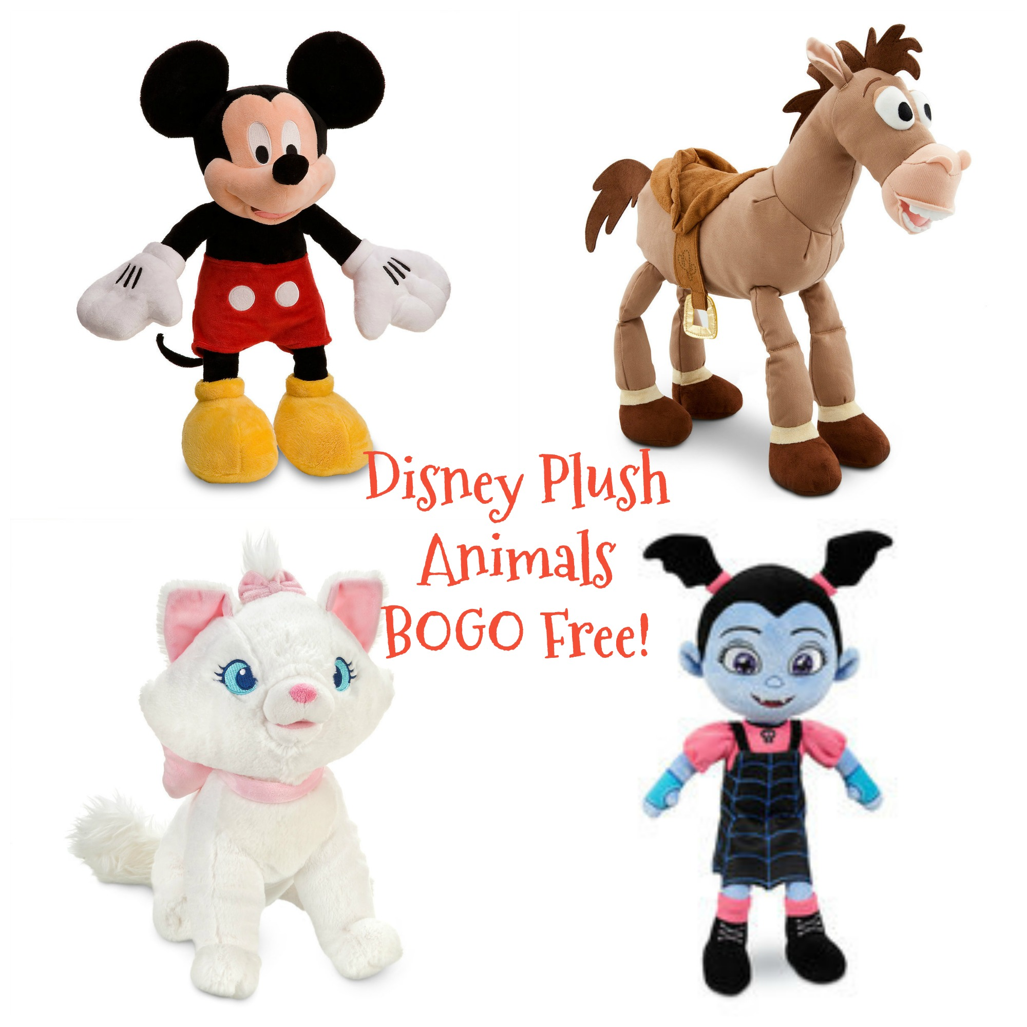 disney plush animals buy one get one free