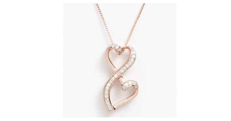 Kohls love is forever rose gold 15 ct diamond double heart kohls love is forever rose gold 15 ct diamond double heart pendant 77 reg 375 mozeypictures Choice Image