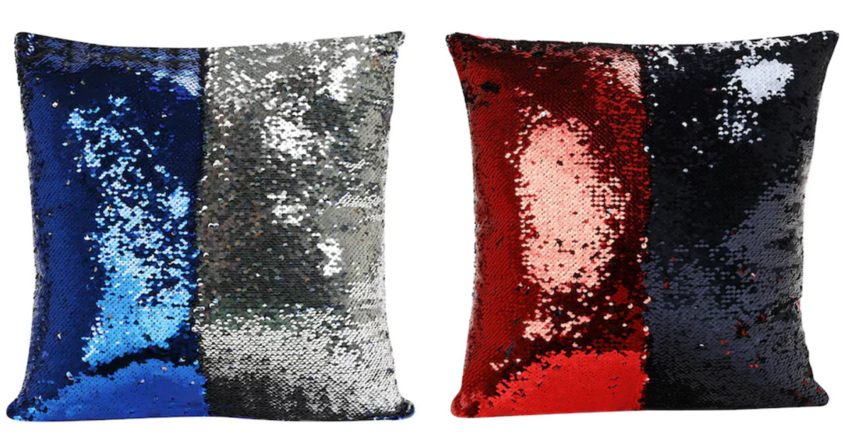 Mermaid Shimmer Sequin Throw Pillows For Just 3 15 Reg