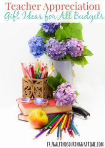 Teacher Appreciation Day is a great time to show your teacher you appreciate them without having to bust your budget. Check out these Teacher Appreciation Day Gift Ideas for all budgets!