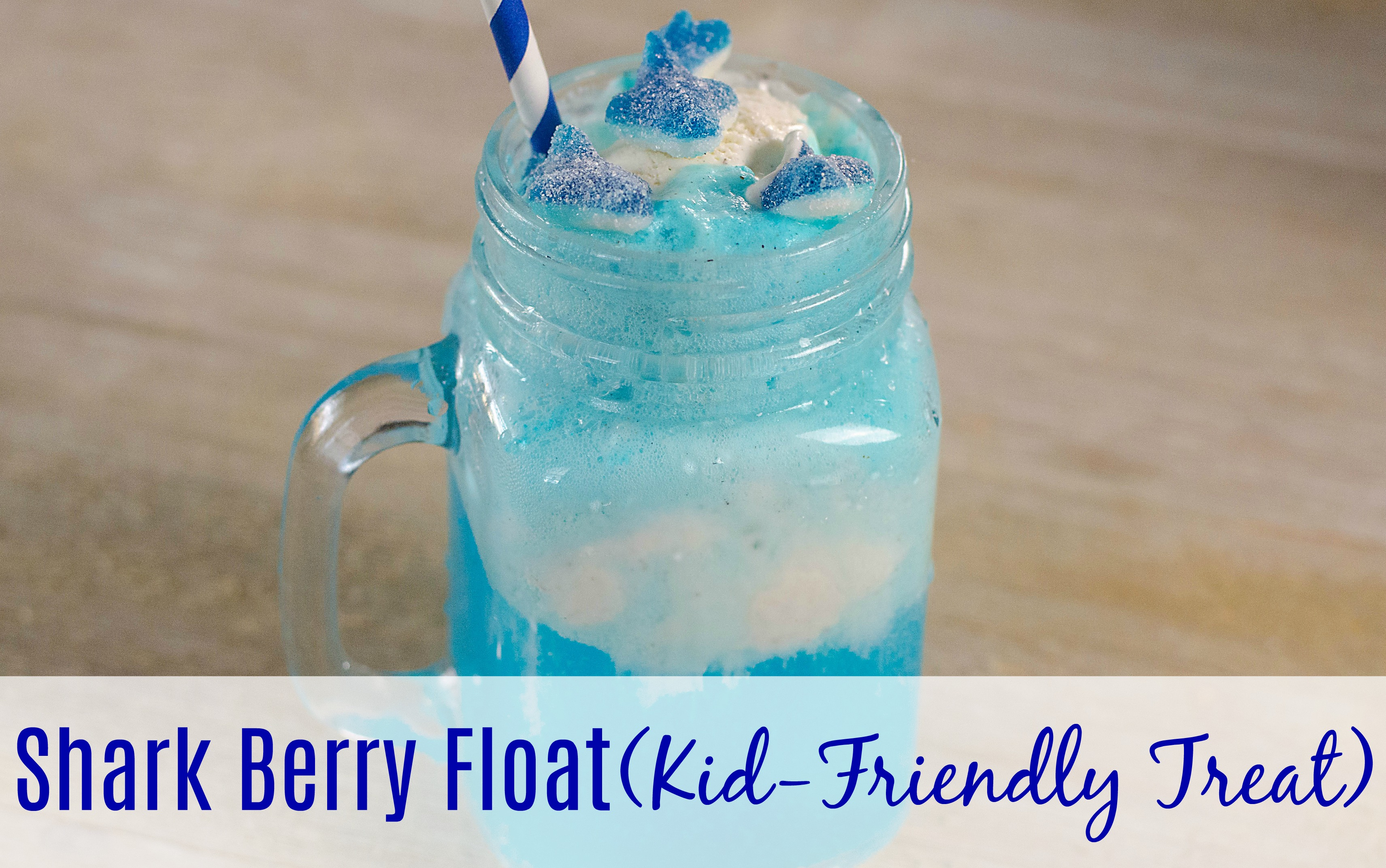 Shark Berry Float